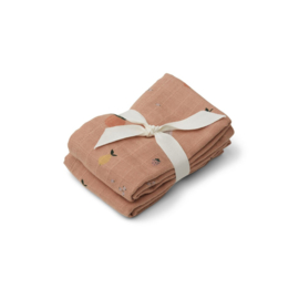 Liewood | Lewis Muslin Cloth | 2 Pack | Fruit Pale Tuscany