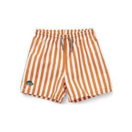 Liewood | Duke Board Short | Stripe Mustard/White