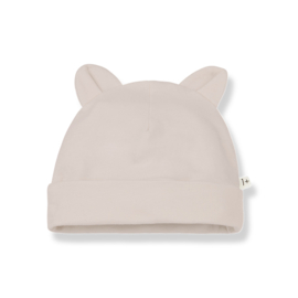 1+ IN THE FAMILY | LEO BEANIE WITH EARS | NUDE | MUTS