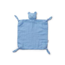 Liewood | Agnete Cuddle Cloth | Mr Bear Sky Blue
