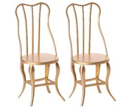 MAILEG | CHAIR | VINTAGE | GOLD | 2 PACK