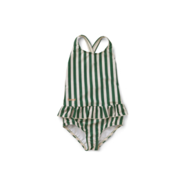 Liewood | Amara swimsuit | Stripe Garden Green / Sandy