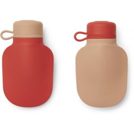 Liewood | Silvia Smoothie Bottle | 2 Pack | Apple red / Tuscany Rose Mix