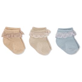 Konges Slojd | 3 Pack | Lace Lurex Socks | Ocean Eyes
