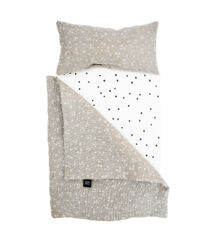 OOH NOO | DOLLY COT BEDDING | STARRY NIGHT