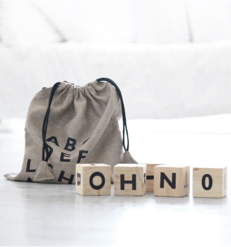 OOH NOO | WOODEN ALPHABET BLOCKS | BLACK