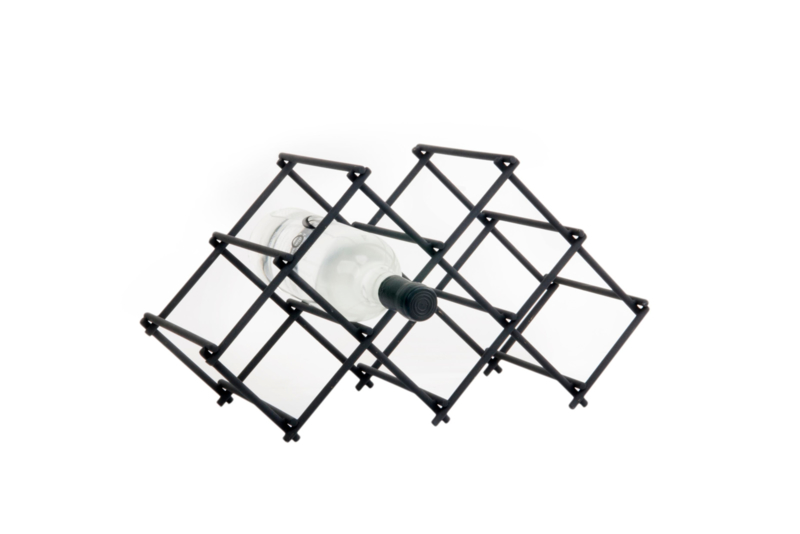 XLBOOM | DIAMOND WINE RACK | 5 | BLACK