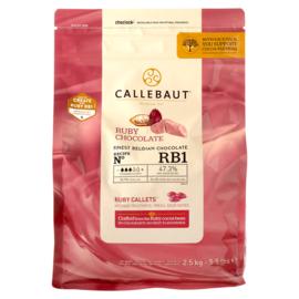 Ruby chocolade druppels - Callebaut