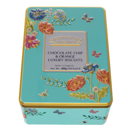 MEADOW FLOWERS TIN 400G CHOC CHIP & ORANGE