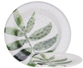 Melamine bord ø23cm Leaf