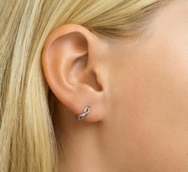Earrings Creoles Infinity