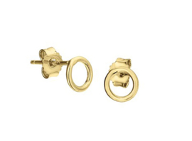 Earrings Open Round Gold