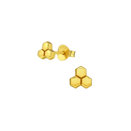 Earrings Honeycomb Gold