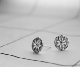 Earrings Flowers Silver