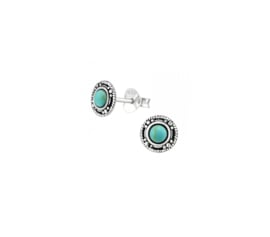 Earrings Round Turquoise