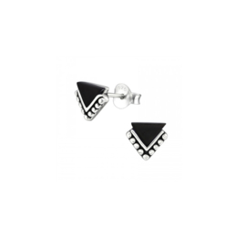 Earrings Onyx Triangles