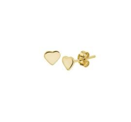 Earrings Lovely Heart Gold