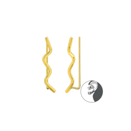 Ear Climber Wave Gold