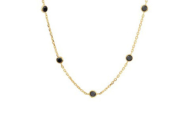 Necklace Gold & Black