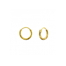 Earrings Stamped Gold 8mm