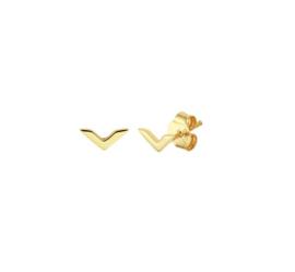 Earrings V Gold