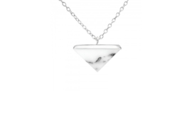 Necklace Triangle Howlite