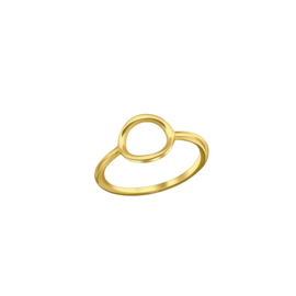Ring  Open Oval Gold