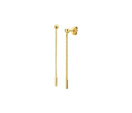Earrings Hanging Rods Gold
