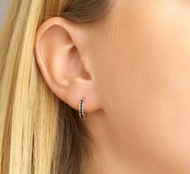 Earrings Hoops Black