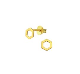 Earrings Hexagon Gold