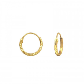 Earrings Stamped Gold 12mm