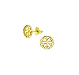 Earrings Mandala Gold