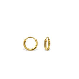 Earrings Creoles Gold 8mm