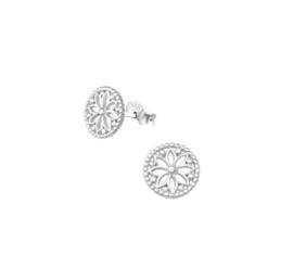 Earrings Flowers Silver