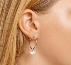 Earrings Ginkgo Leaf Hoops