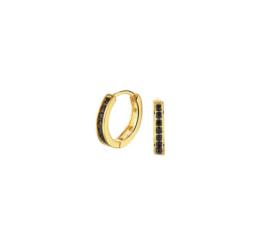 Earrings Hoops Black Gold