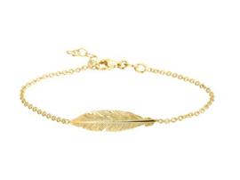 Bracelet Feather Gold