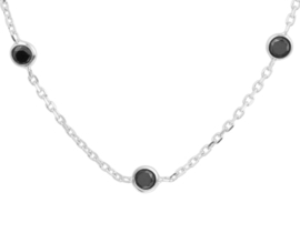 Necklace Silver & Black