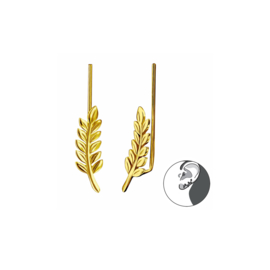 Ear Climber Leaf Gold