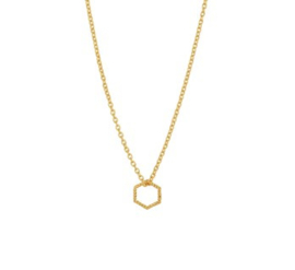 Necklace Hexagon Gold