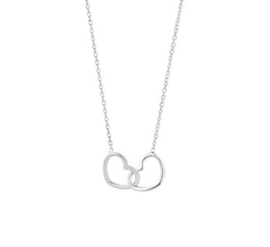 Necklace Double Heart