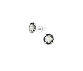 Earrings Round White