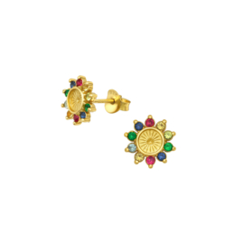 Earrings Flower Party Gold