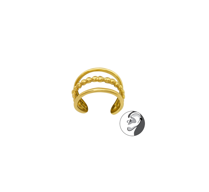 Ear Cuff Double Gold