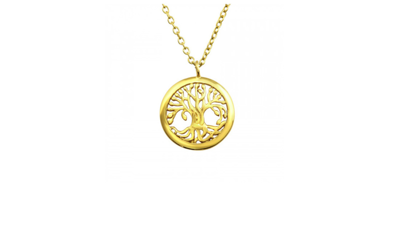 Necklace Golden Tree
