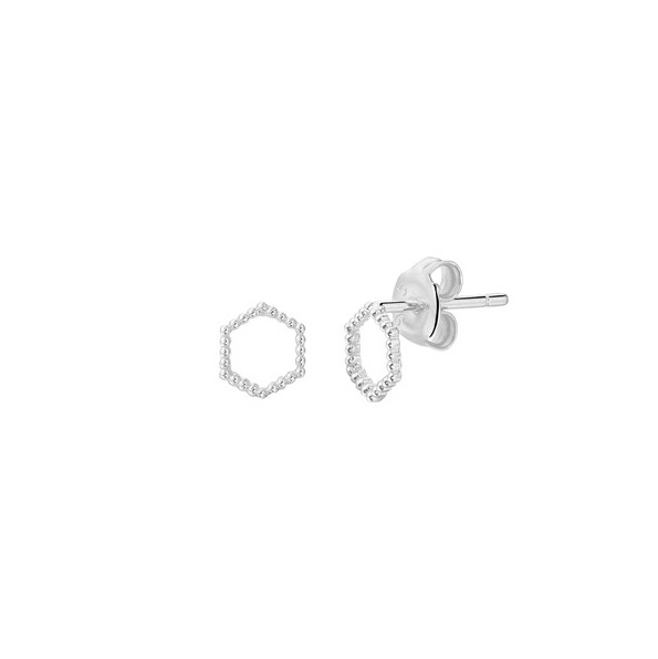 Earrings Hexagon