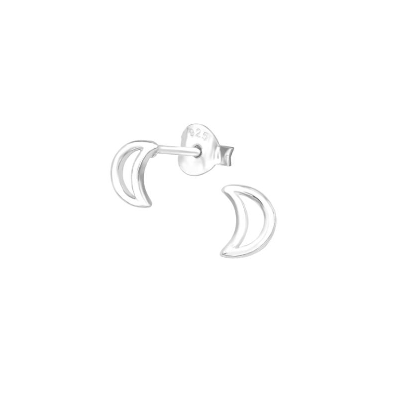Earrings Moon Open