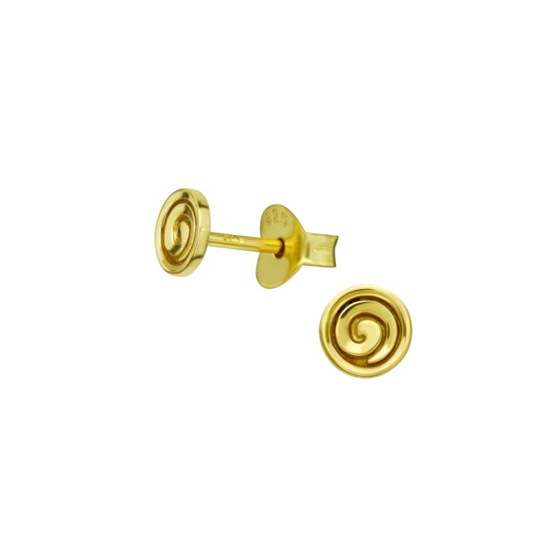 Earrings Spiral Gold
