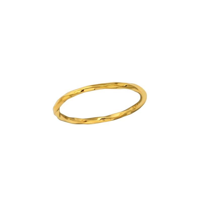 Ring Stamped Gold