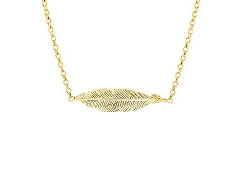 Necklace Feather Gold
